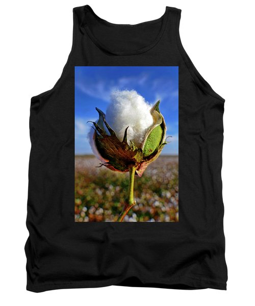 Tank Top featuring the photograph Cotton Pickin' by Skip Hunt