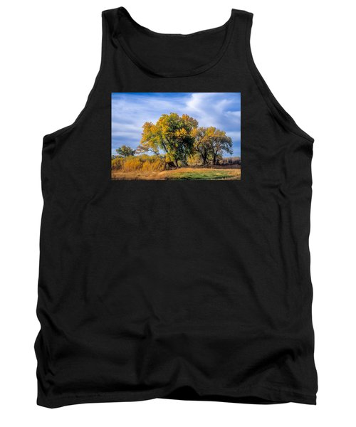 Cottonwood #1 Tree On Ranch Land In Colorado Fall Colors Tank Top by John Brink