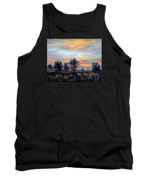 Cottonwoods At Sunset Tank Top by Jill Musser