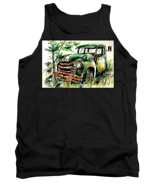 Tank Top featuring the painting Country Antiques by Terry Banderas