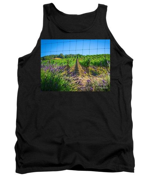 Country Lavender V Tank Top