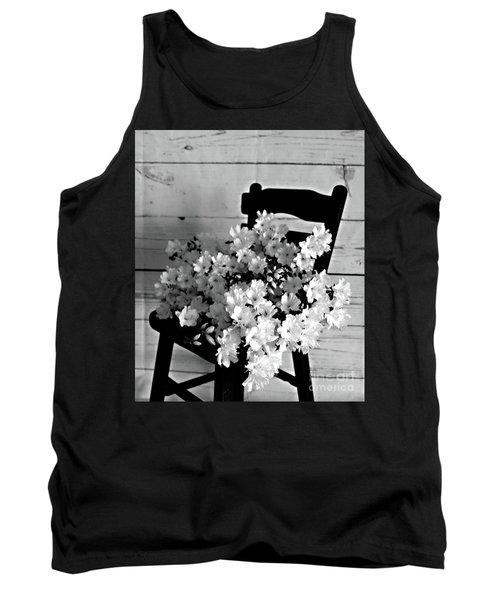 Country Porch In B And W Tank Top by Sherry Hallemeier