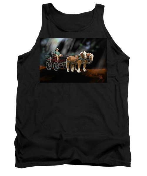 Country Road Horse And Wagon Tank Top