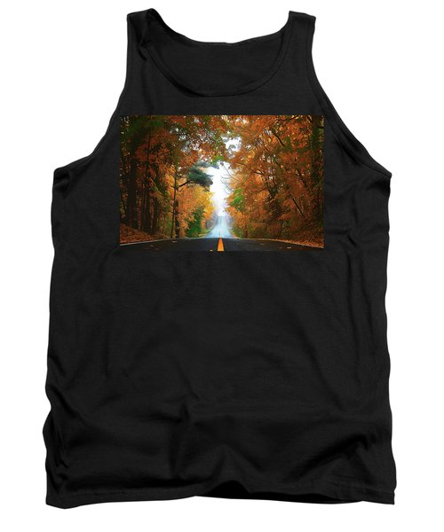 Tank Top featuring the painting Country Roads by Harry Warrick