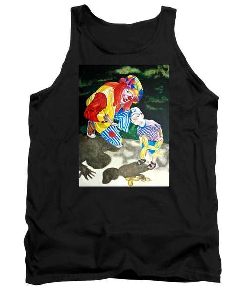 Tank Top featuring the painting Couple Of Clowns by Lance Gebhardt