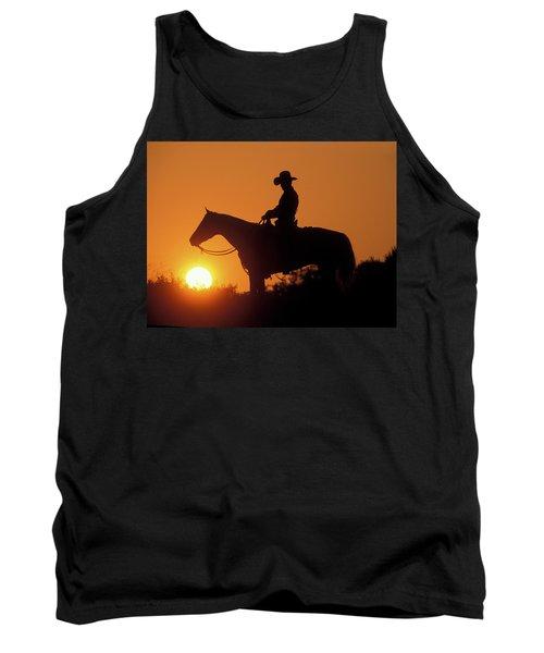 Cowboy Sunset Silhouette Tank Top