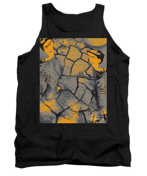 Cracked Earth With Frieda Khalo. Tank Top
