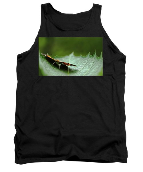 Cradled Painted Lady Tank Top by Debbie Oppermann