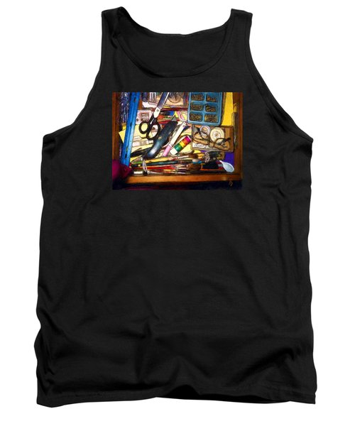 Craft Drawer Clutter Tank Top by Ric Darrell