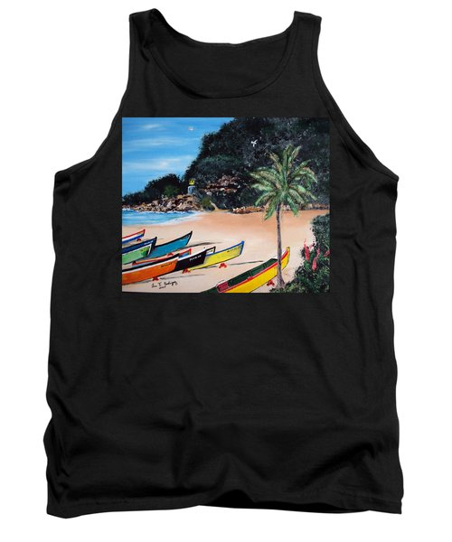 Crashboat Beach I Tank Top by Luis F Rodriguez