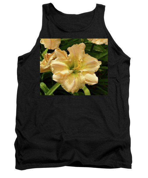 Tank Top featuring the photograph Cream Daylily by Sandy Keeton