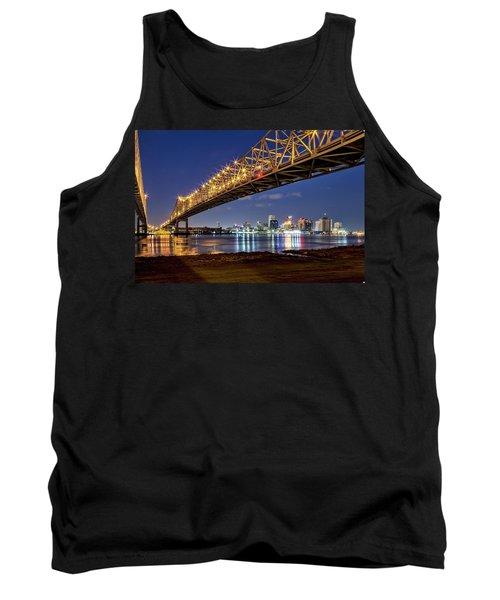 Crescent City Bridge, New Orleans Tank Top