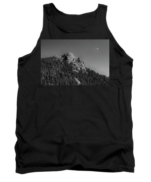 Tank Top featuring the photograph Crescent Moon And Buffalo Rock by James BO Insogna