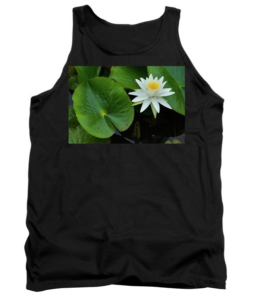 Crisp White And Yellow Lily Tank Top