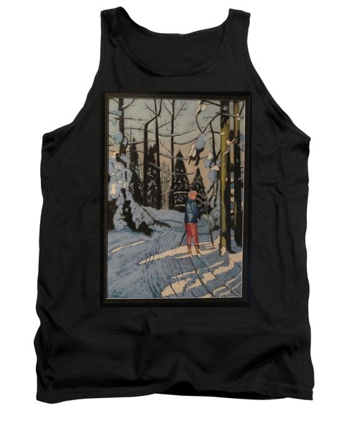 Cross Country Skiing In Upstate Ny Tank Top