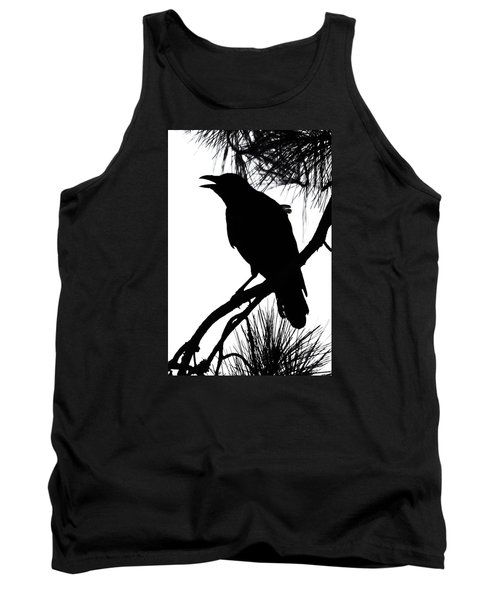 Crow Silhouette Tank Top by Patricia Schaefer