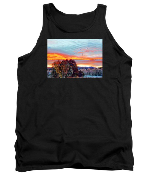 Crows Before Dawn El Valle New Mexico Tank Top by Anastasia Savage Ealy