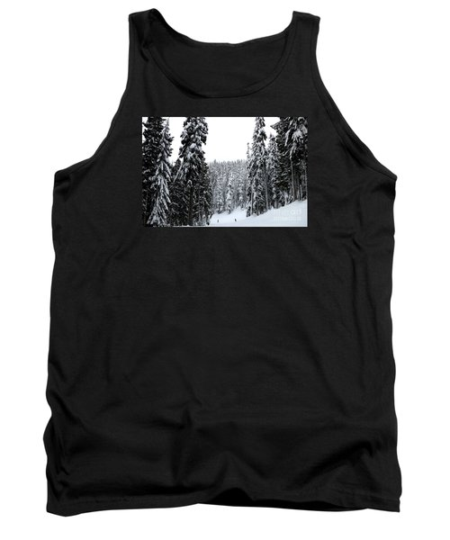 Crystal Mountain Skiing 2 Tank Top by Tanya Searcy