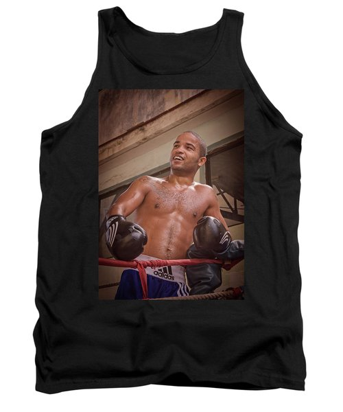 Tank Top featuring the photograph Cuban Boxer Ready For Sparring by Joan Carroll