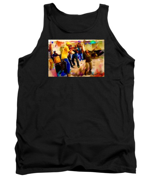 Tank Top featuring the painting Cuban Music by Ted Azriel