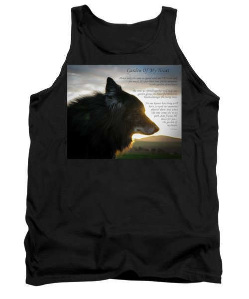 Custom Paw Print Garden Of My Heart Tank Top