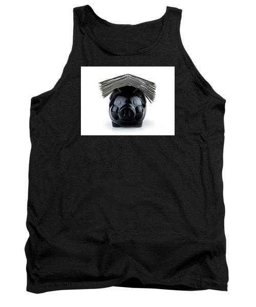 Cute Black Piggybank Tank Top