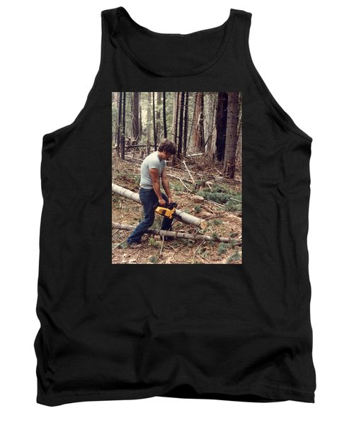Cutting Wood In Blue Canyon Tank Top