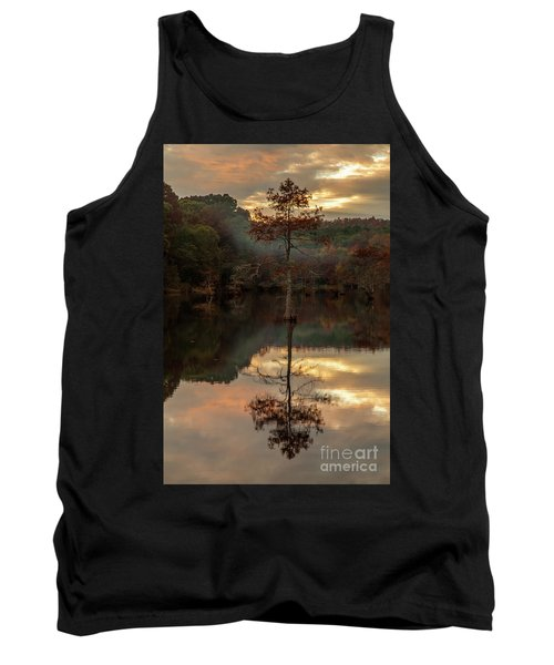Cypress At Sunset Tank Top by Iris Greenwell