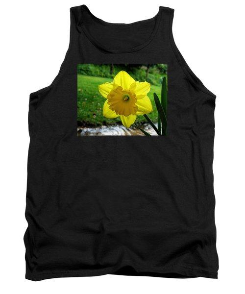 Daffodile In The Rain Tank Top by Dorothy Cunningham