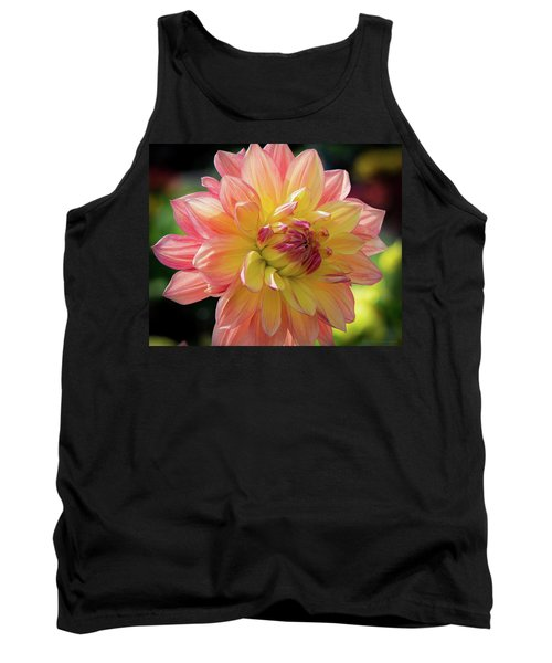 Tank Top featuring the photograph Dahlia In The Sunshine by Phil Abrams