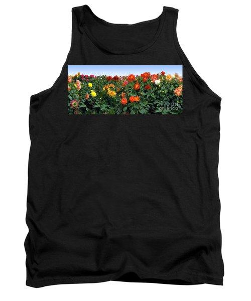 Dahlia Flower Panorama Tank Top