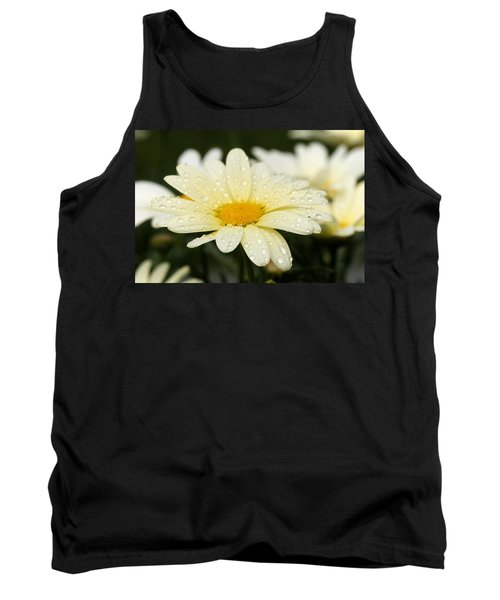 Tank Top featuring the photograph Daisy After Shower by Angela Rath