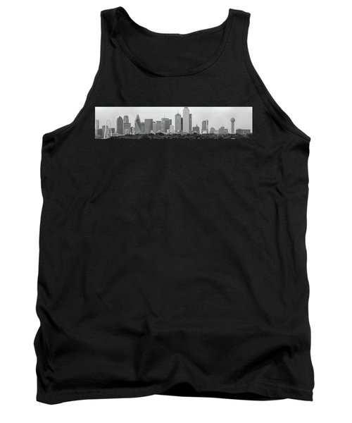 Tank Top featuring the photograph Dallas In Black And White by Jonathan Davison