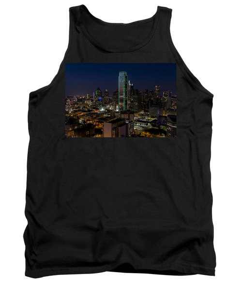 Dallas Skyline Evening Glow Tank Top
