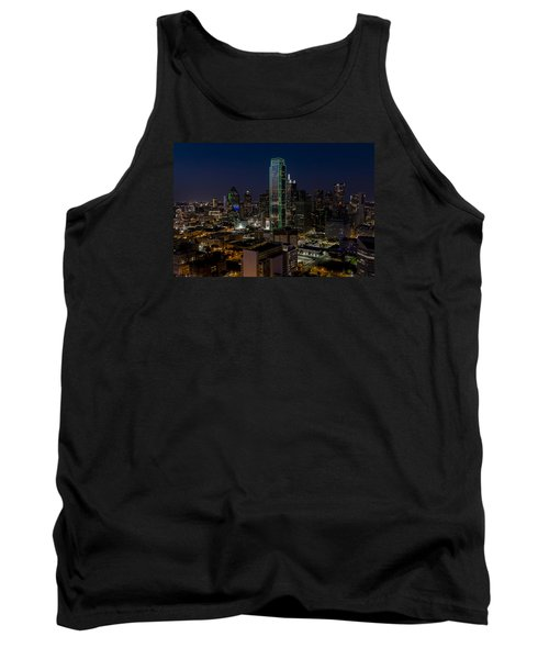 Dallas Skyline Evening Glow Tank Top