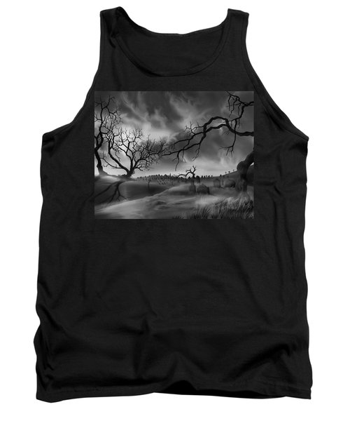 Dark Cemetary Tank Top by James Christopher Hill