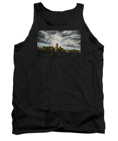 Dark Clouds Approaching Tank Top by Ron Richard Baviello