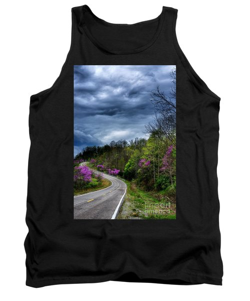 Tank Top featuring the photograph Dark Clouds Over Redbud Highway by Thomas R Fletcher