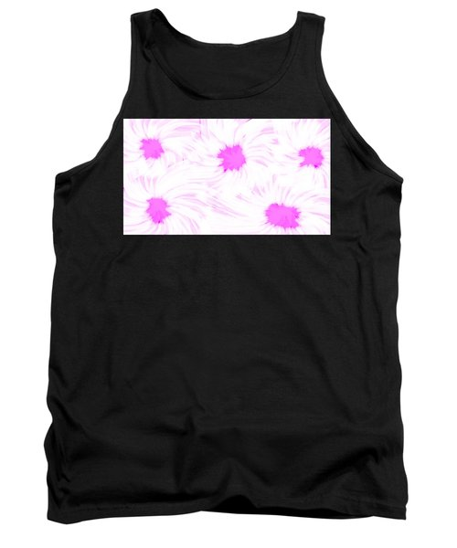 'dark Pink And White Flower Abstract' Tank Top