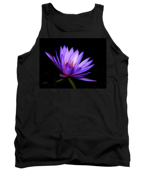 Dark Side Of The Purple Water Lily Tank Top