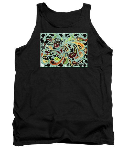 Dark Star Swims Among The Fishes Tank Top
