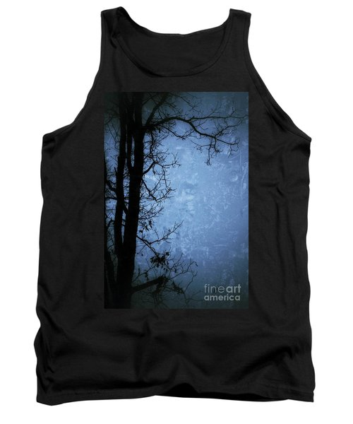 Dark Tree Silhouette  Tank Top