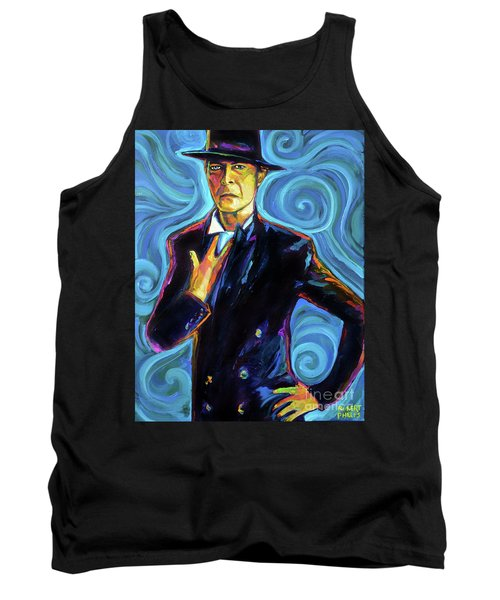 Tank Top featuring the painting David Bowie by Robert Phelps