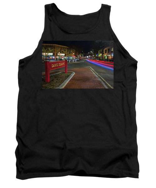 Davis Square Sign Somerville Ma Mikes Tank Top
