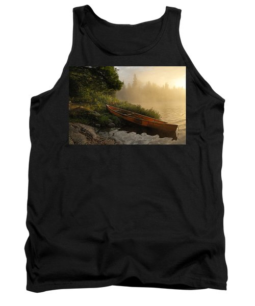 Dawn On Boot Lake Tank Top by Larry Ricker