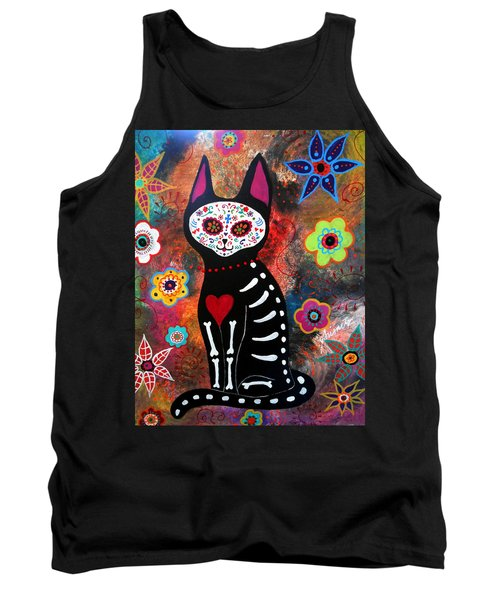 Day Of The Dead Cat El Gato Tank Top