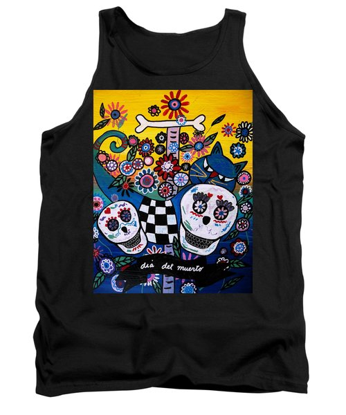 Tank Top featuring the painting Day Of The Dead by Pristine Cartera Turkus