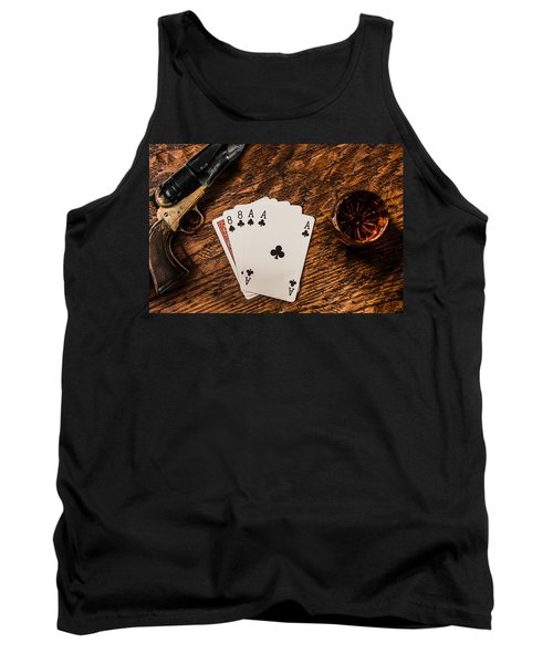 Dead Mans Hand A Gun And A Shot Of Whiskey Tank Top