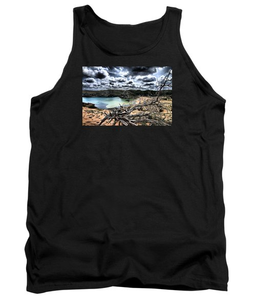 Dead Nature Under Stormy Light In Mediterranean Beach Tank Top by Pedro Cardona