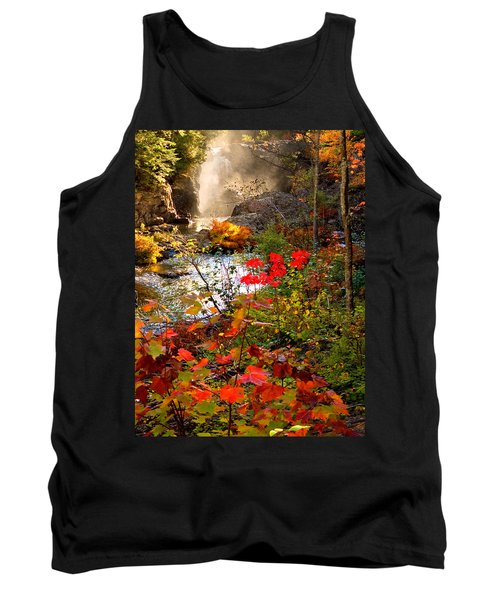 Dead River Falls Foreground Plus Mist 2509 Tank Top by Michael Bessler